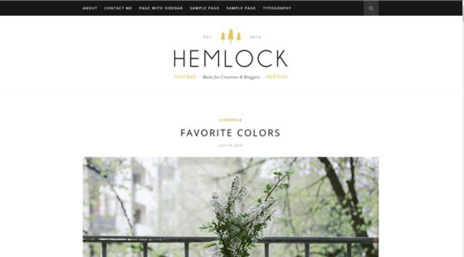 Hemlock – Responsive WordPress Blog Theme by SoloPine